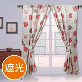 棉花田【蜜莉恩】印花遮光窗簾(270x240cm)