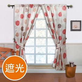 棉花田【蜜莉恩】印花遮光窗簾(270x210cm)