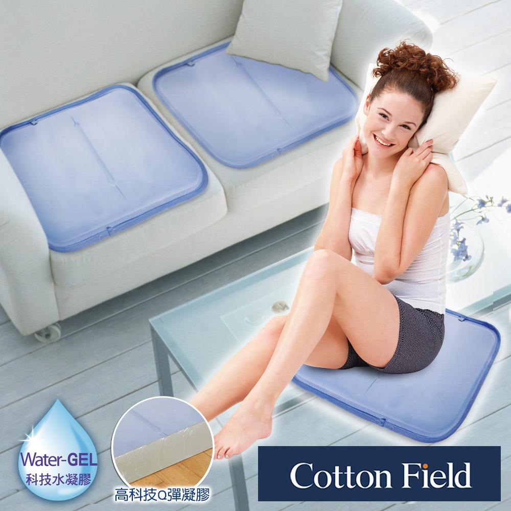 棉花田【雪之宿】低反发素色冷凝清凉坐垫(45x45cm)