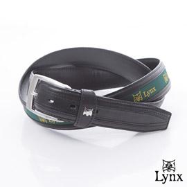 Lynx - 美國山貓穿針時尚簡約真皮皮帶
