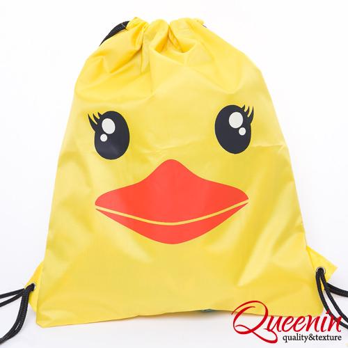 DF Queenin - 熱門款黃色小鴨輕便型束口後背包
