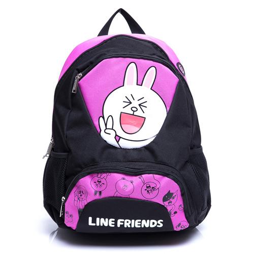 df - line friends超可爱桃粉兔兔款后背包