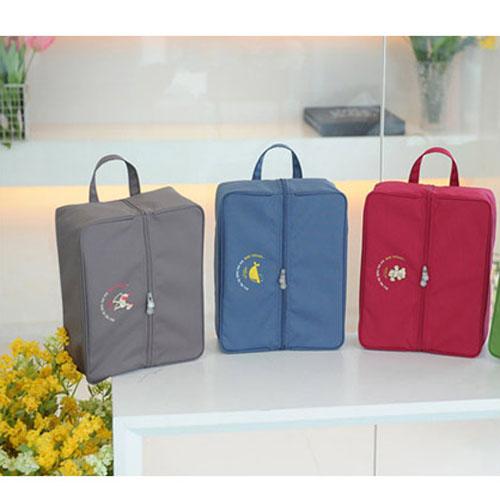 DF Queenin - 韩版旅行鞋子收纳包-共3色