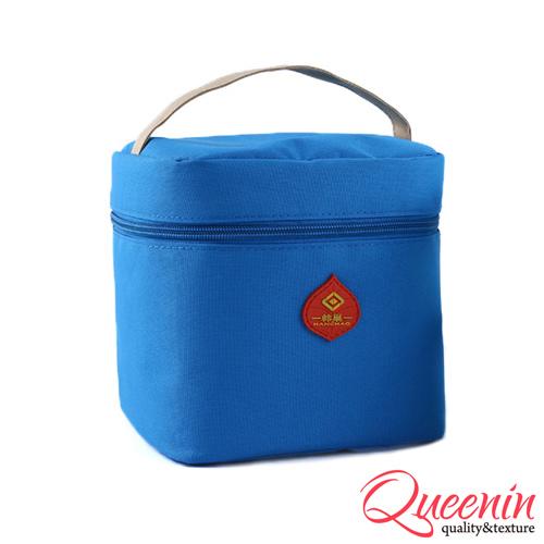 DF Queenin日韩 - 野餐生活新乐趣轻便式保冷保温袋-天空蓝