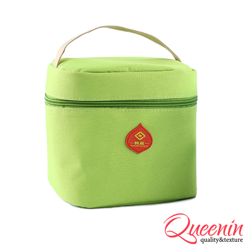 DF Queenin日韩 - 野餐生活新乐趣轻便式保冷保温袋-苹果绿