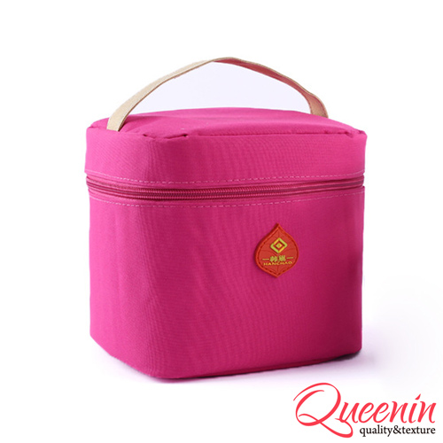 DF Queenin日韩 - 野餐生活新乐趣轻便式保冷保温袋-桃红