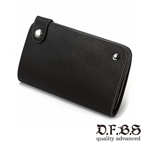 DF BAGSCHOOL皮夾 - 精英專屬30入卡夾收納包-黑色