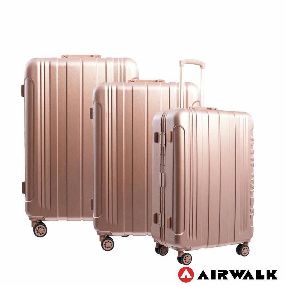 airwalk - 金属森林木丝铝框复古压扣行李箱abs pc铝框箱3件组-共2色图片