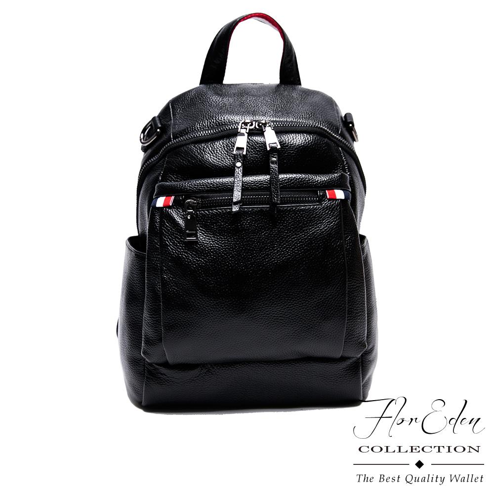 DF Flor Eden - 漫游荷兰时尚牛皮质感手提侧背后背3-WAY包