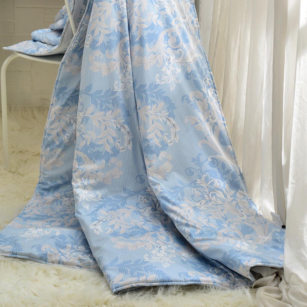 義大利La Belle~絢藍之光~純棉涼被 5x6.5尺