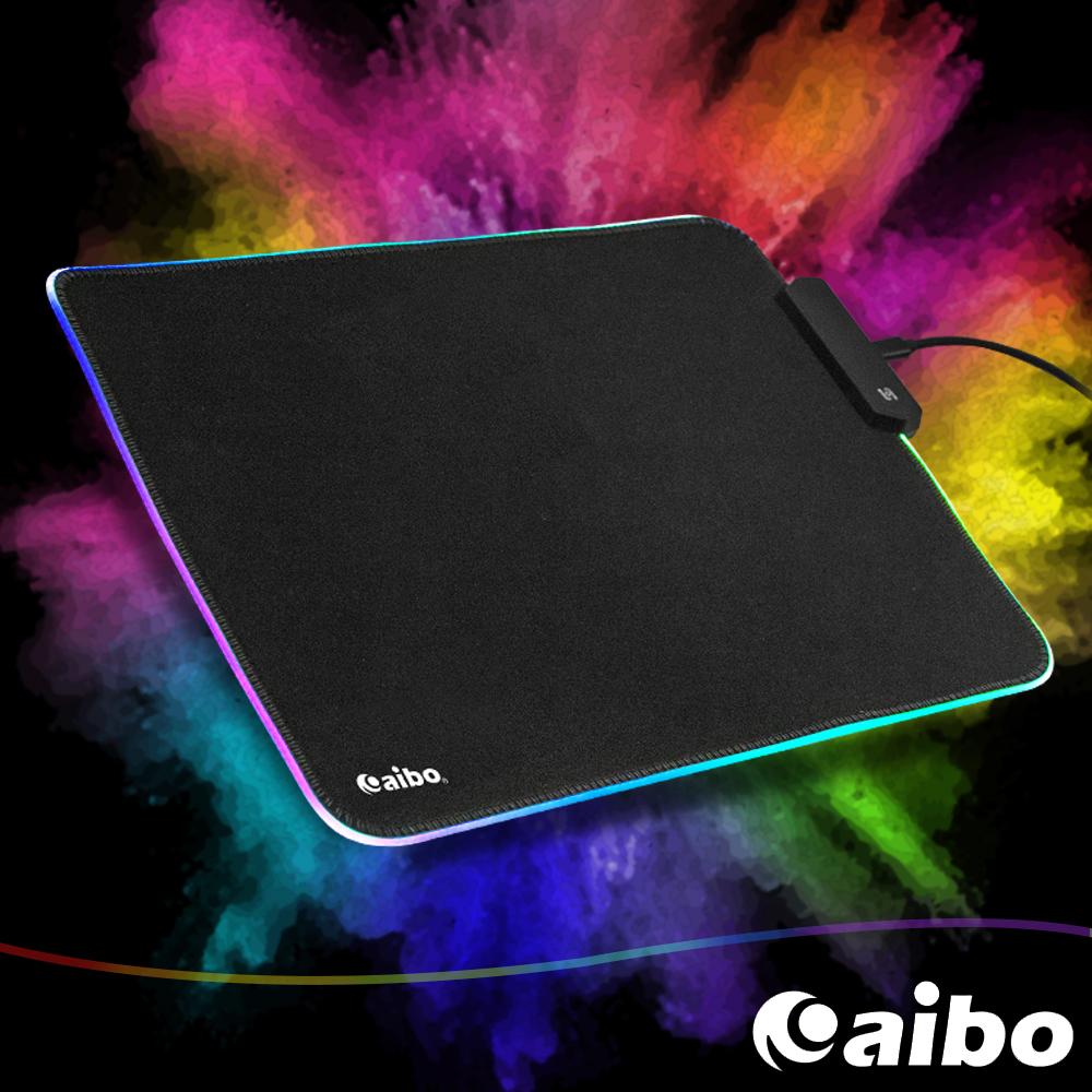 aibo RGB幻彩發光電競鼠墊(30.5x24.5cm)