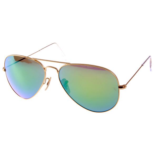 RAY BAN太阳眼镜 经典品牌/金-水银绿#RB3025 11219