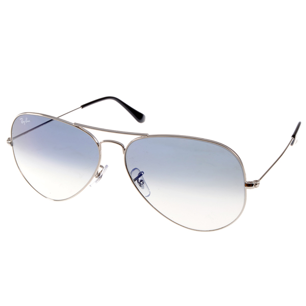 RAY BAN太阳眼镜 经典品牌/银-渐层蓝#RB3025 0033F