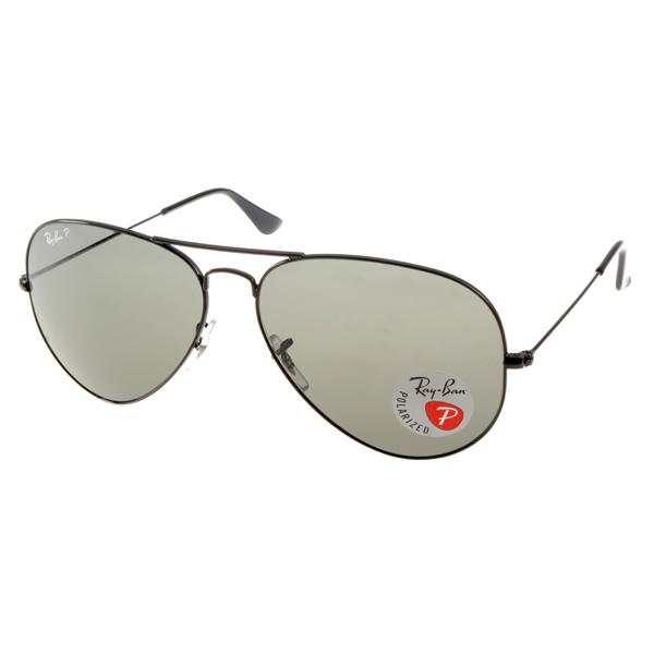 RAY BAN太阳眼镜 经典品牌/黑-墨绿#RB3025 00258(偏光)