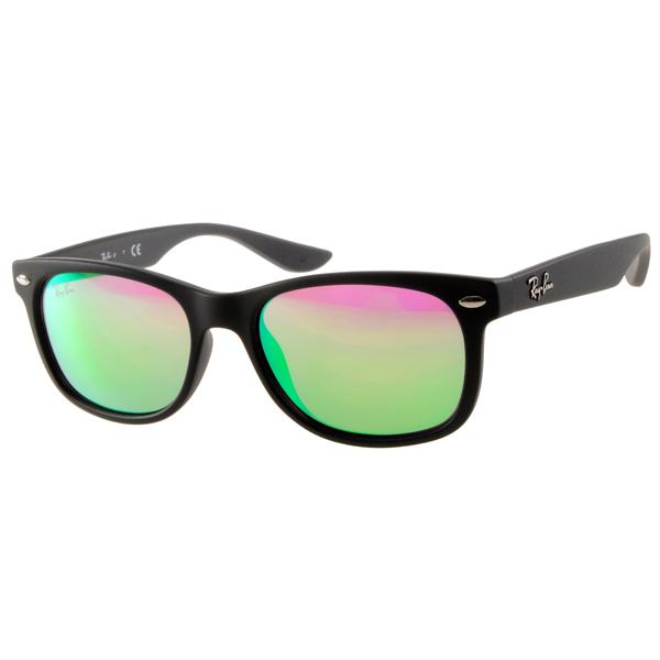 RAY BAN太陽眼鏡 兒童款/黑-水銀鏡面#RJ9052S 100S3R