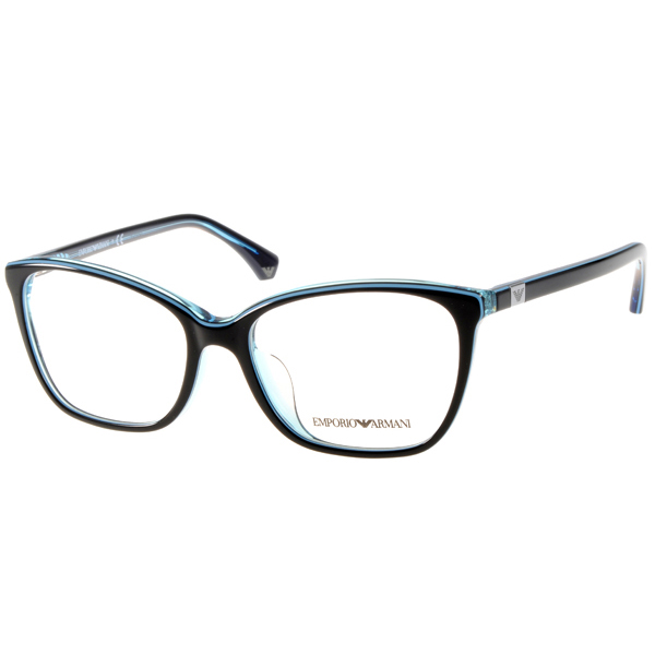 EMPORIO ARMANI眼镜 简约时尚/黑-水蓝#EA3053F 5350