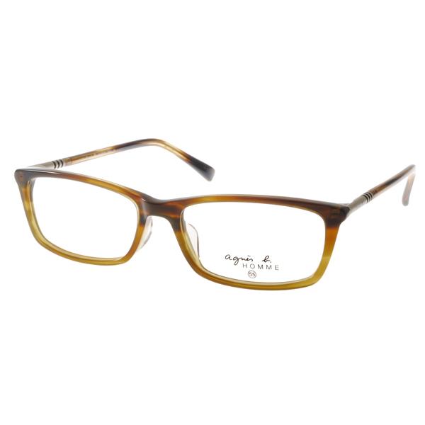 agnes b.眼镜 法式简约/亮琥珀#AB7021 BRA
