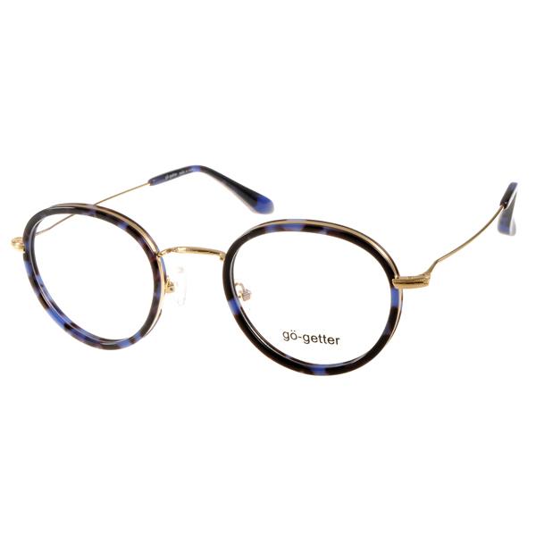 Go-Getter眼镜 复古圆框/蓝琥珀-金#GO2019 C04