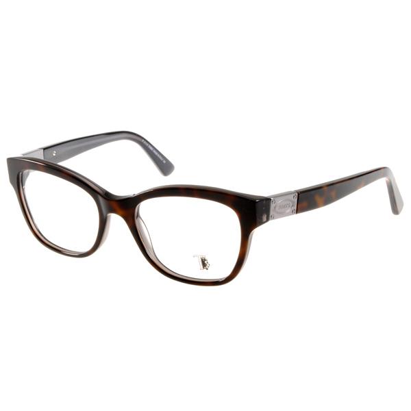 TOD'S眼镜 雅痞粗框/深邃琥珀#TOD5120 056