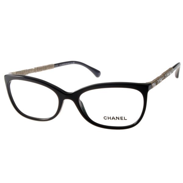 CHANEL眼镜 顶级奢华名媛/黑#CN3305B C501