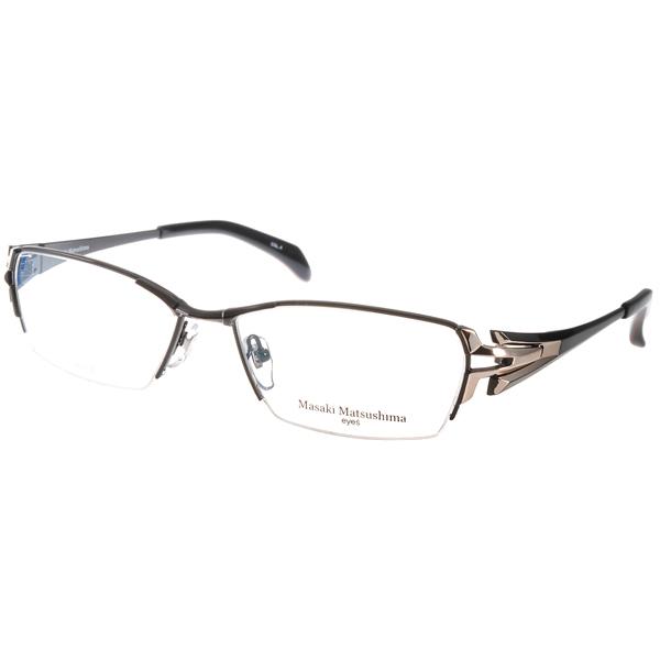 Masaki Matsushima眼镜 日本β钛金属/黑-金#MF1192 C04