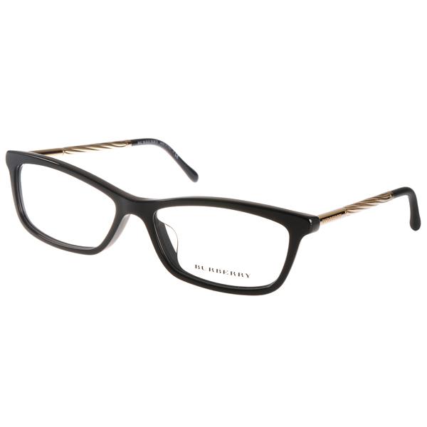 BURBERRY眼镜典雅小框/黑-金