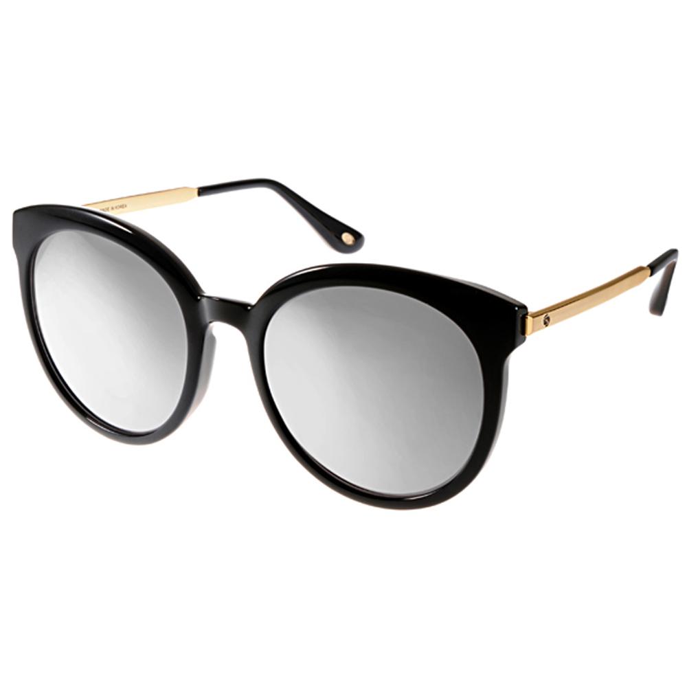 Go-Getter太阳眼镜 大框猫眼/白-黑金 #GS4002 02