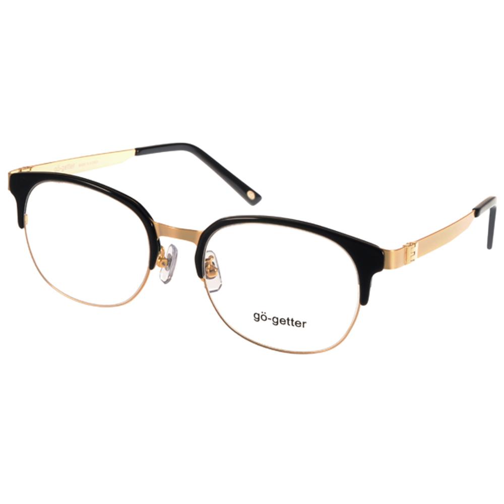 Go-Getter眼镜 百搭半框/黑-金 #GO3008 02