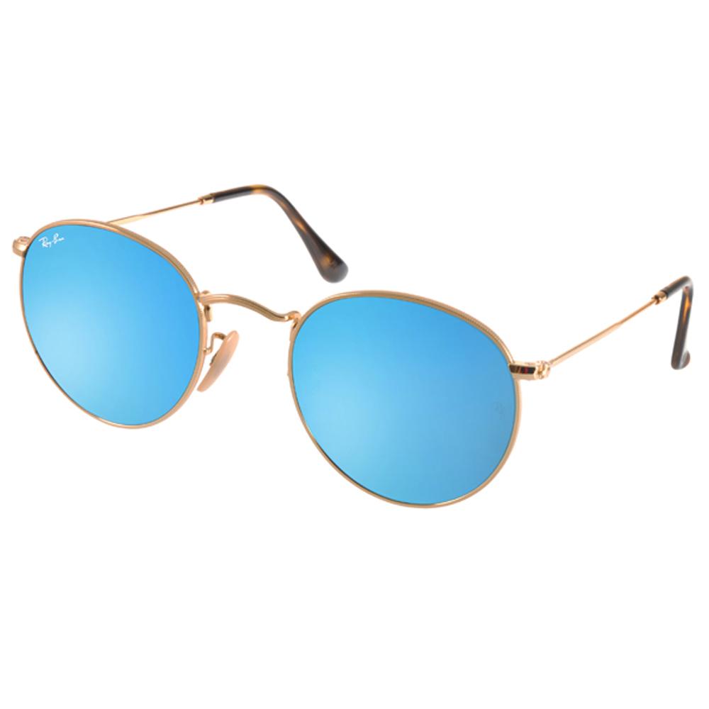 RAY BAN太阳眼镜 复古圆框/金-蓝-水银镜面 #RB3447N 0019O-50mm