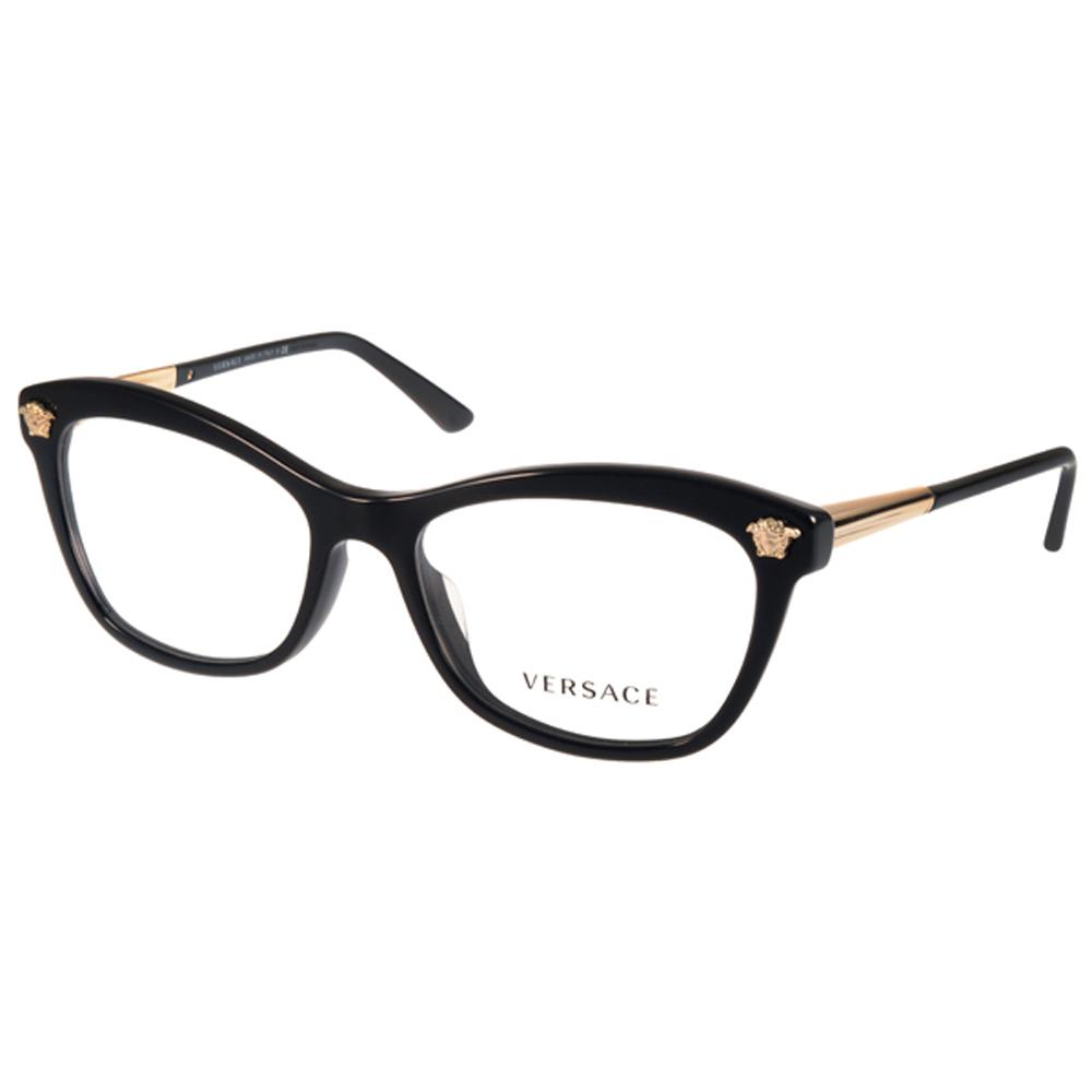 VERSACE眼镜 义式简约/黑-金 #VE3224A GB1