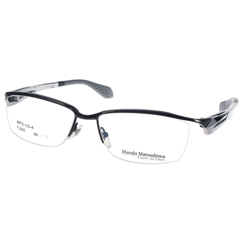 Masaki Matsushima眼镜 绅士沉稳/黑-银 #MFS110 C04