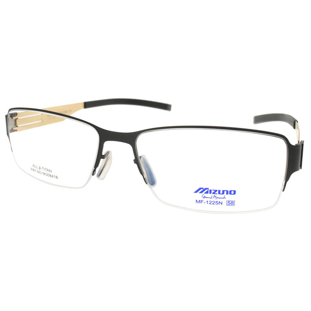 MIZUNO眼镜 β 钛休闲/黑-金 #MF1225N C71