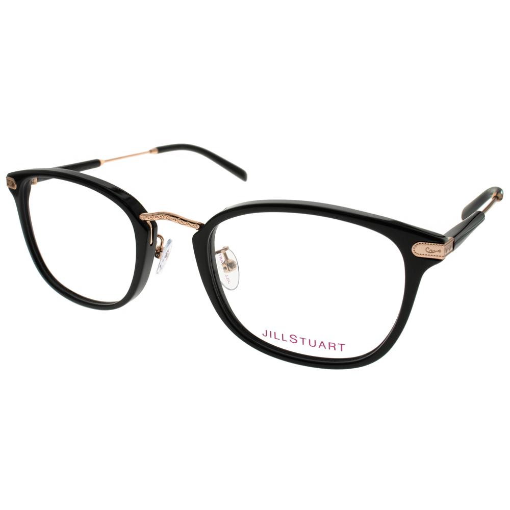 JILL STUART眼镜 经典方框款 黑-金 # JS60117Z C01