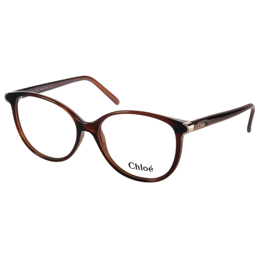 Chloe光学眼镜 猫眼唯美女款 /棕 #CL2657 C210