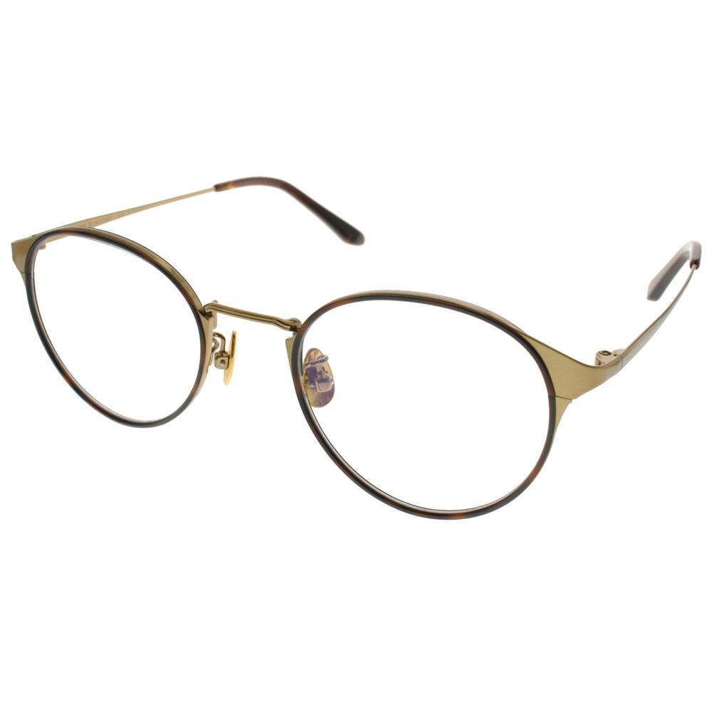 NINE ACCORD光学眼镜 文青必备圆框 /琥珀棕-金 #PLACO INTO2 C04商