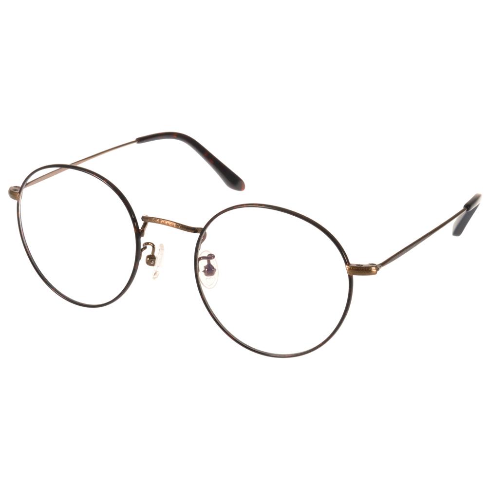 NINE ACCORD光学眼镜 极简圆框款 /棕-铜#PLACO FL2 C02