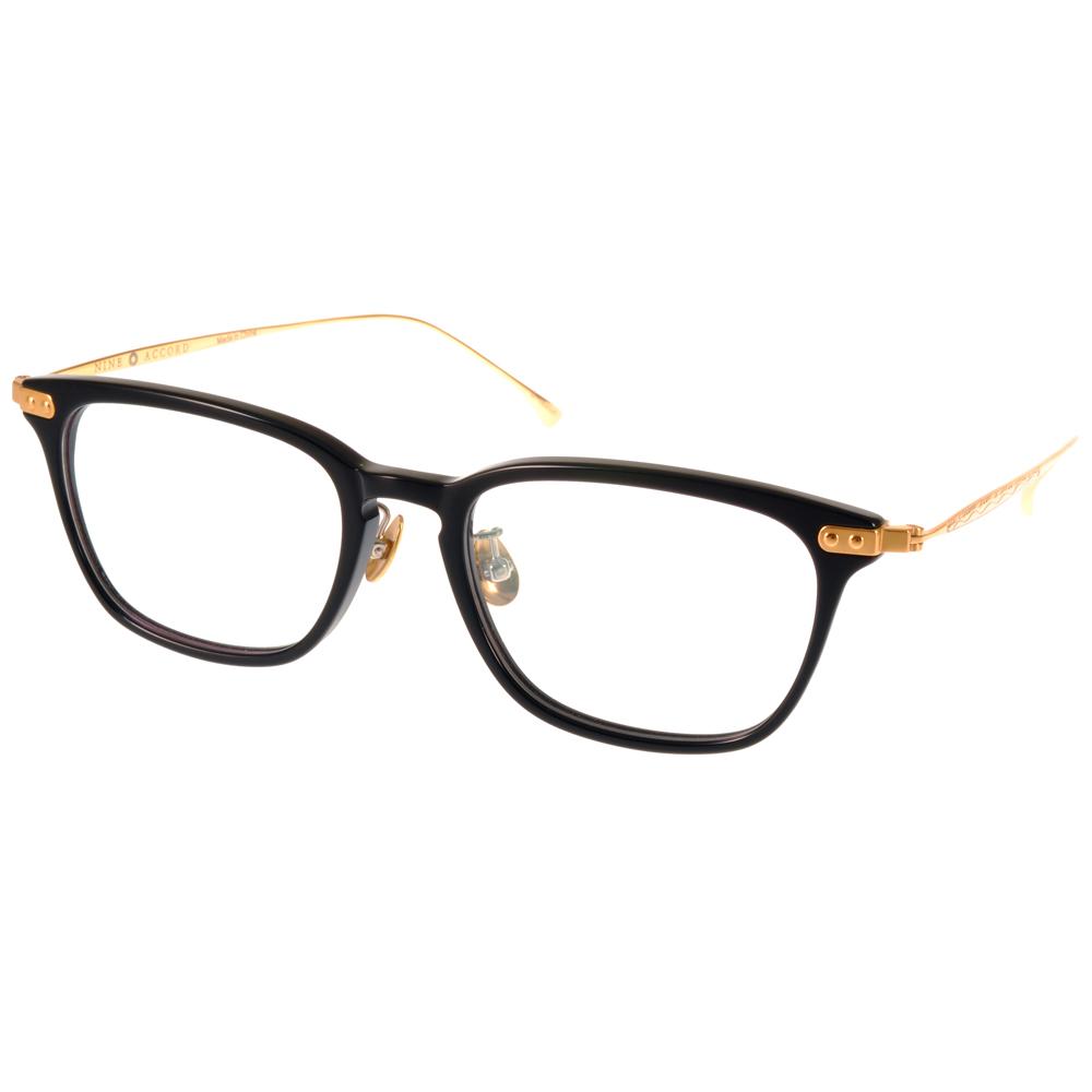 NINE ACCORD光学眼镜 β钛金属系列 /黑-金#UNION US C01