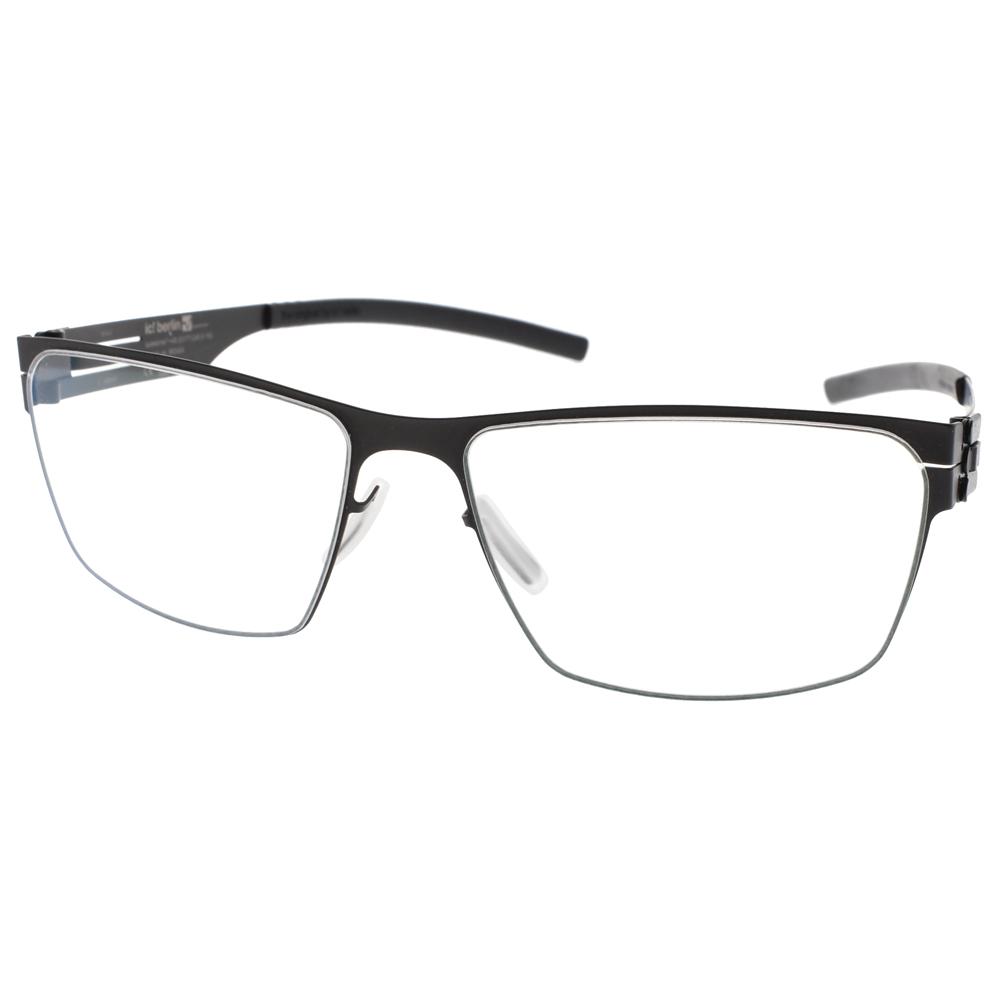 Ic! Berlin眼镜 德国薄钢时尚经典 /黑 #TORSTEN S. BLACK