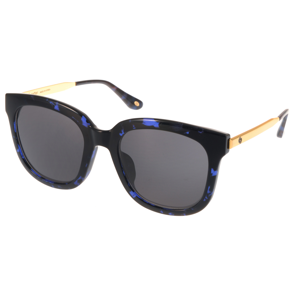 Go-Getter 太陽眼鏡 韓版時尚/藍琥珀-金 #GS4001 C07