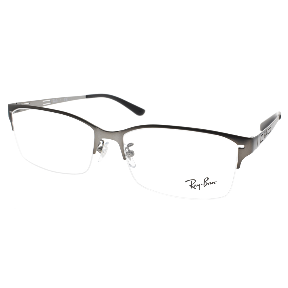 RAY BAN眼镜 金属质感半框款 /枪银#RB6388D 2620
