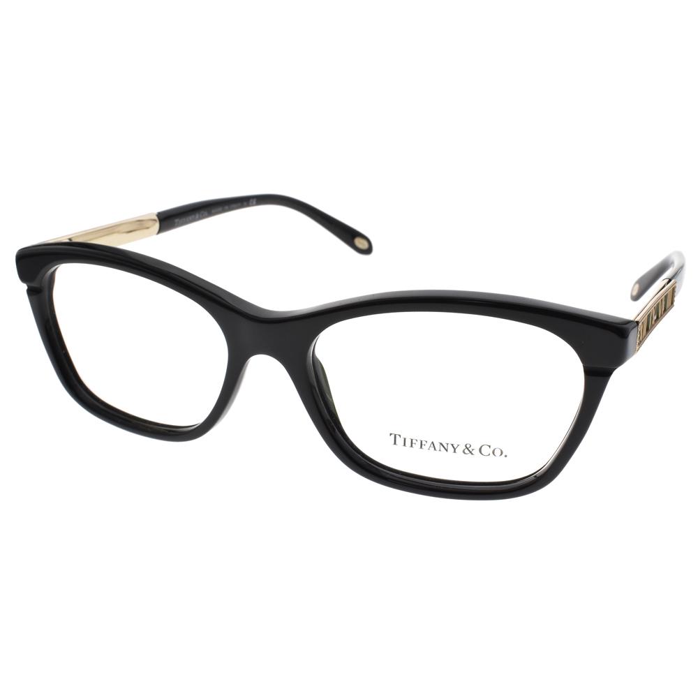 Tiffany&CO.眼鏡 羅馬數字邊飾款/黑-蒂芬妮綠#TF2102 8001