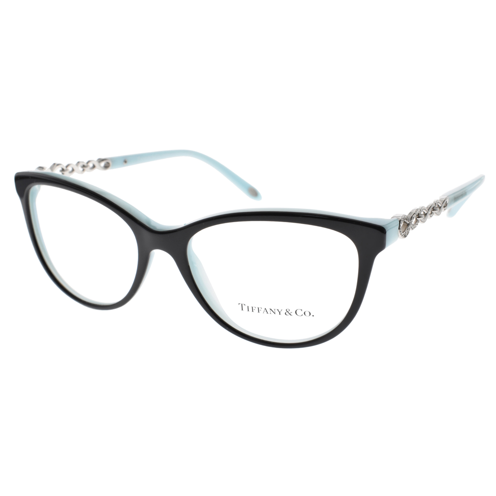 Tiffany&CO.眼鏡 奢華鎖鍊晶鑽款/黑-蒂芬妮綠#TF2120B 8055