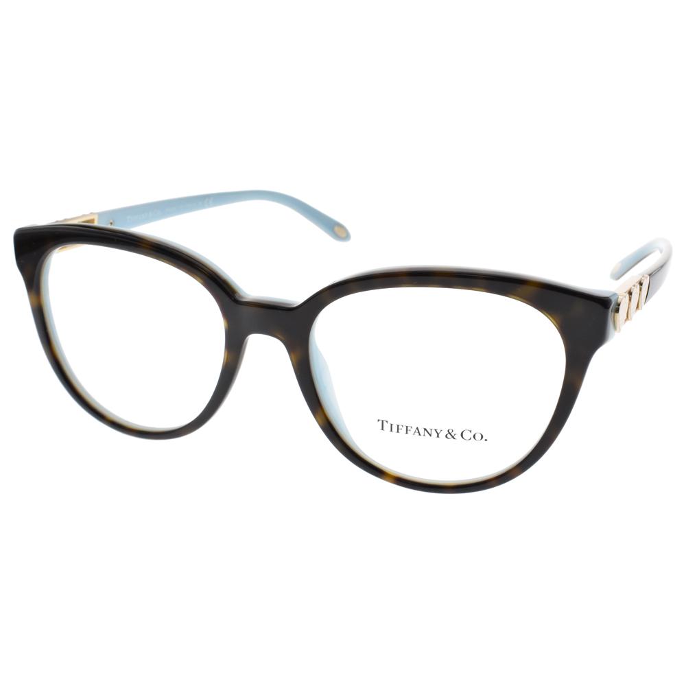 Tiffany&CO.眼鏡 經典浪漫愛心款/琥珀棕-蒂芬妮綠#TF2145 8134