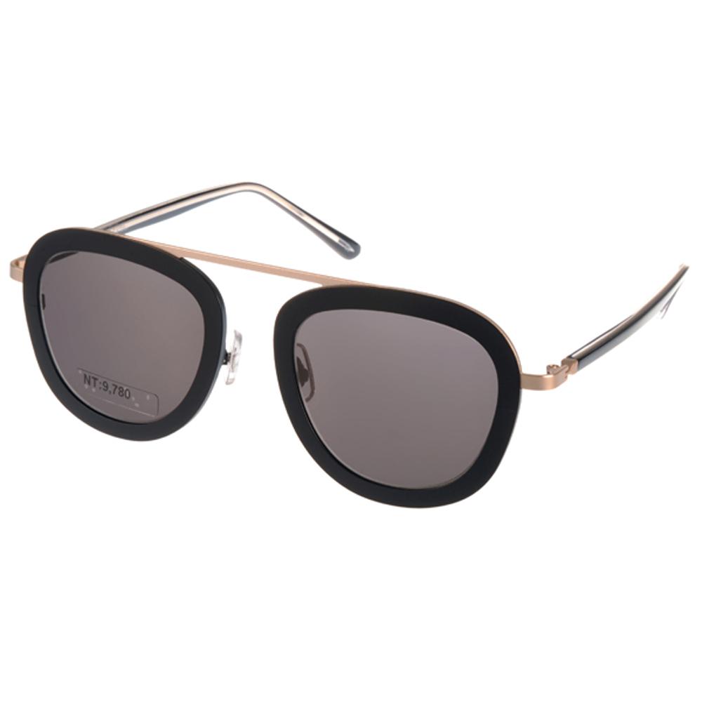 STEALER太阳眼镜 现代时尚飞行款 /黑-金 #KARMA C08