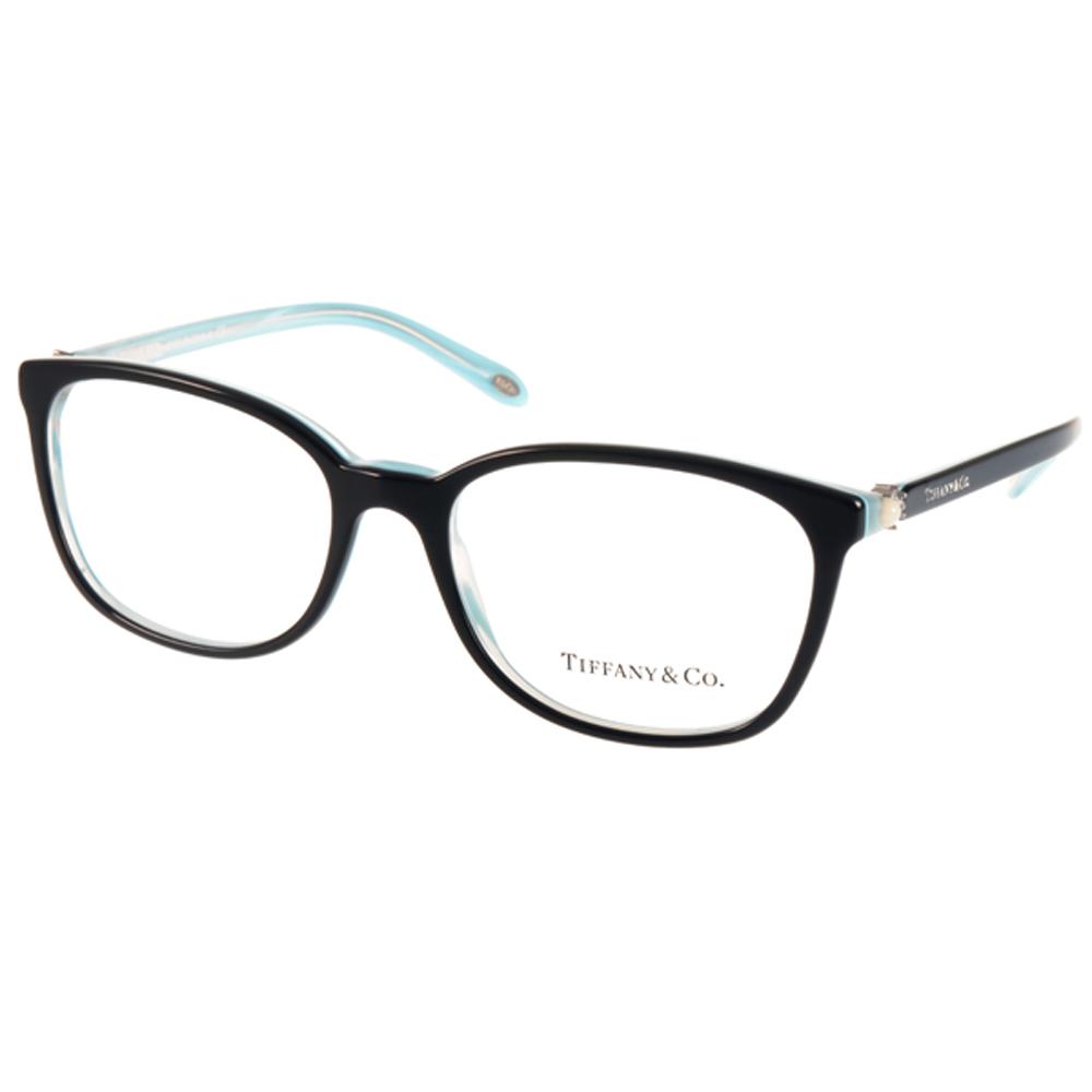 Tiffany&CO.眼鏡 精品優雅珍珠款/黑-流線水藍#TF2109HB 8193