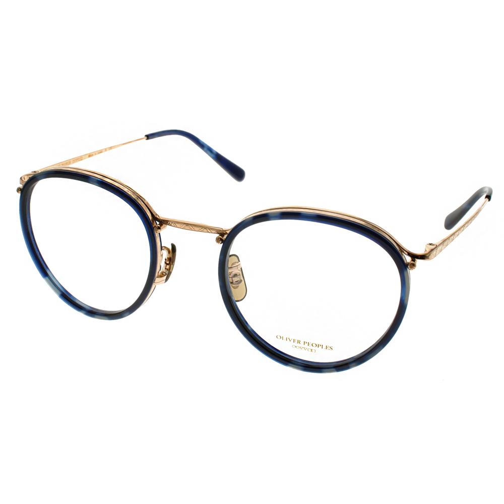 OLIVER PEOPLES眼镜复古圆框款 /琥珀蓝-金 #WATERSTON 5035