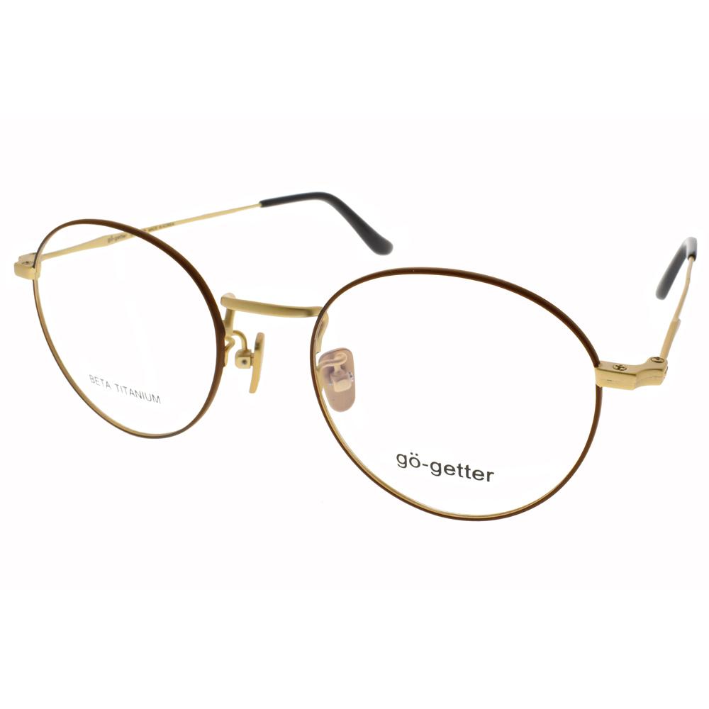 Go-Getter 眼镜 简约圆框款/琛棕-雾金 #GO3024 C04