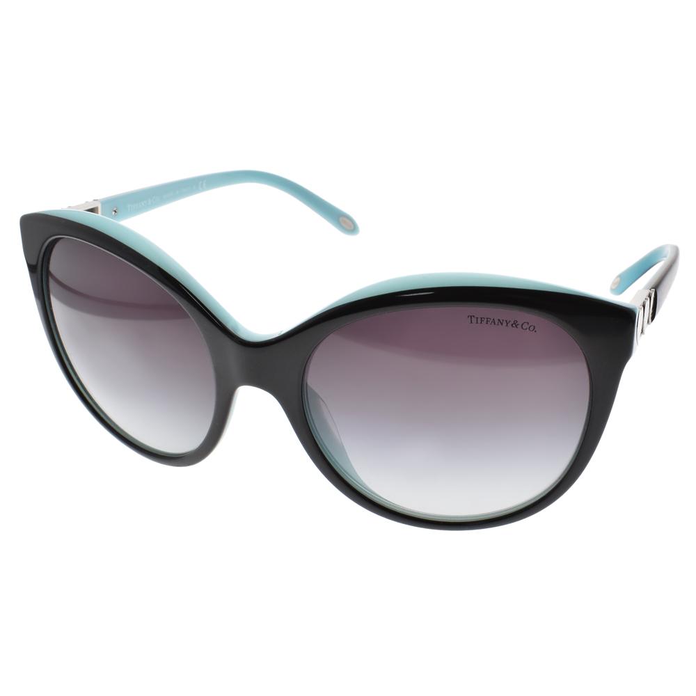 Tiffany&CO.太陽眼鏡 經典愛心款/黑-銀 #TF4133 80553C