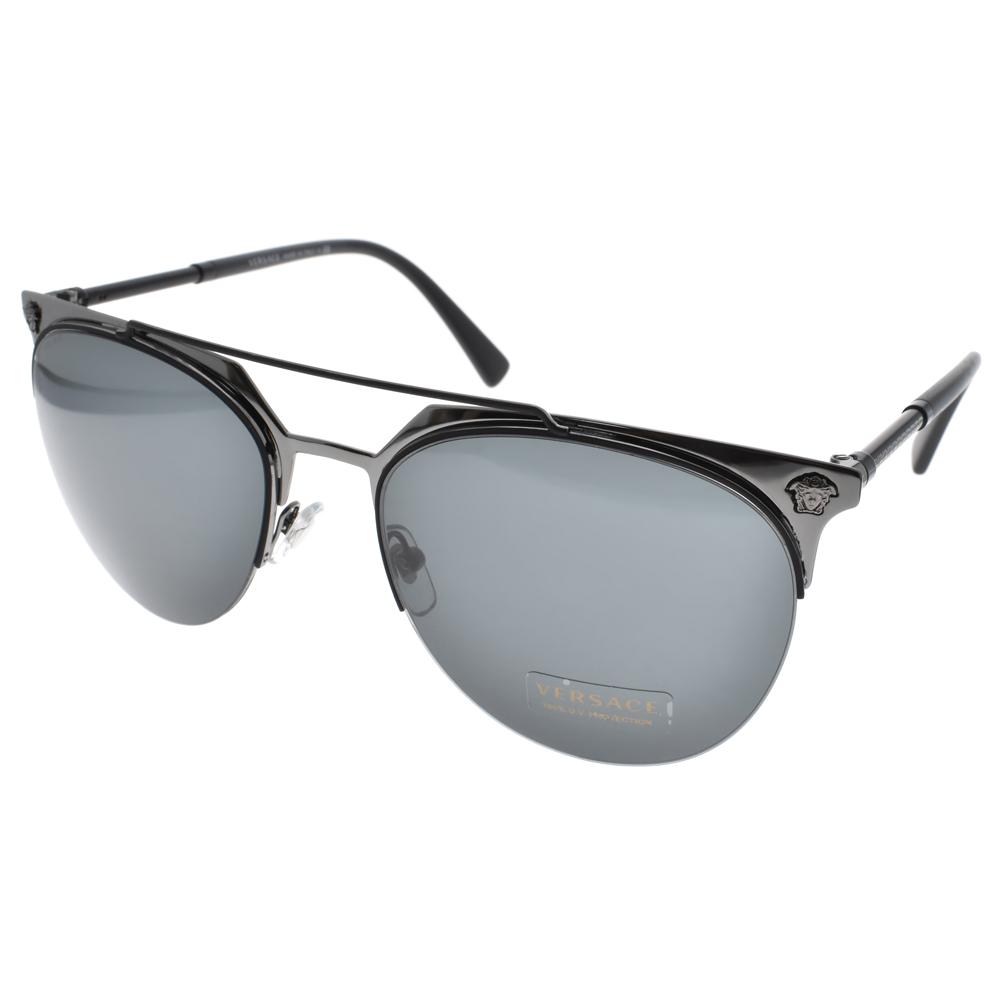 VERSACE太阳眼镜 欧美时尚潮流款/黑-蓝镜片 #VE2181 100187