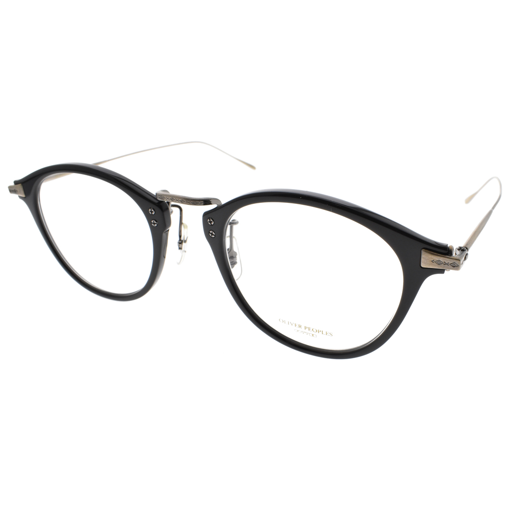OLIVER PEOPLES眼镜 简约微猫眼款/黑-雾金 #CORDING 1005